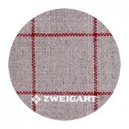 Belfast Carre Zweigart 32 ct (натуральний в червону клітинку) 7666/3809
