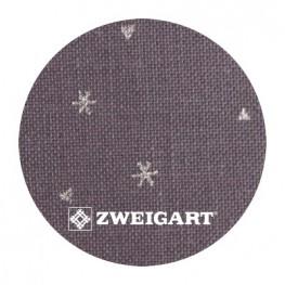 Belfast Sparkle 32 ct Zweigart Dark Grey с серебряными снежинками 3609/7459