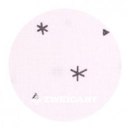 Belfast Sparkle 32 ct Zweigart White з сірими сніжинками 3609/1369