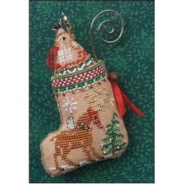 Схема Gingerbread Mouse Reindeer Stocking Just Nan JN305