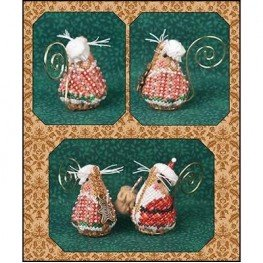 Схема Gingerbread Mrs Santa Mouse Just Nan JNLEGMSM