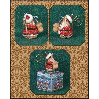 Схема Gingerbread Santa Mouse Just Nan JNLEGSM