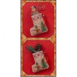 Схема Gingerbread Mouse Elf Stocking Just Nan JN304