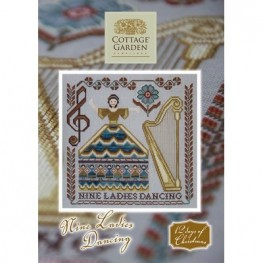 Схема Nine Ladies Dancing Cottage Garden Samplings