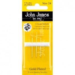 Иглы для вышивания позолоченные John James №24 (JG19824)