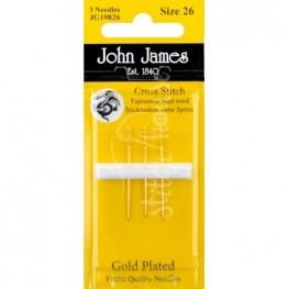 Иглы для вышивания позолоченные John James №26 (JG19826)