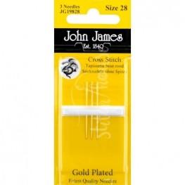 Голки для вишивання позолочені John James №28 (JG19828)