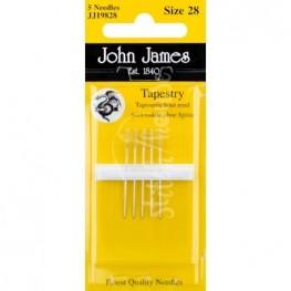 Иглы гобеленовые John James №28 (JJ19828)