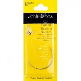 Голки бісерні вигнуті John James (JJ31)