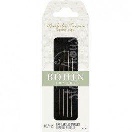 Иглы бисерные длинные №10-12 Bohin 01125