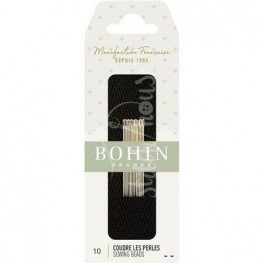 Иглы бисерные короткие Short №10 Bohin 01124