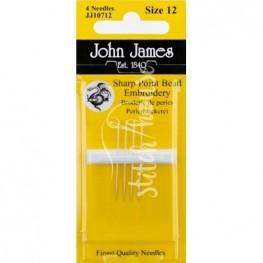 Иглы бисерные иглы John James №12 (JJ10712)