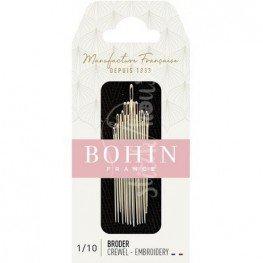 Набор игл для вышивки Embroidery №1/10 Bohin 00772