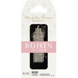 Набор игл для вышивки Embroidery №5/10 Bohin 00769