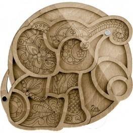 Органайзер для бисера с крышкой Волшебная страна FLZB-033