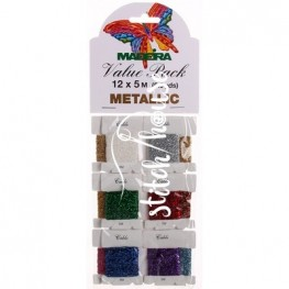 Комплект металізованих ниток Metallic Perle №10 Madeira 9704