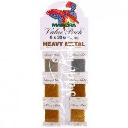 Комплект металлизированных нитей Heavy Metal №30 Madeira 9701