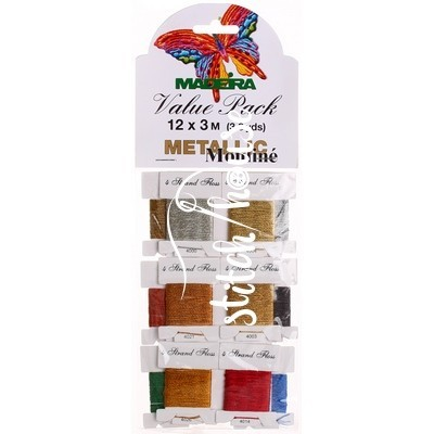 Комплект металлизированных нитей Metallic Mouline №4 Madeira 9706