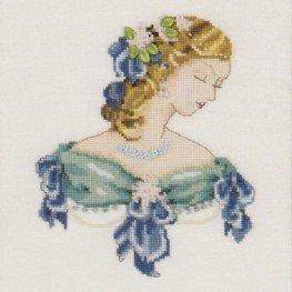 Схема Portrait of Lauren in Blue Nora Corbett NC103