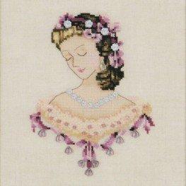 Схема Portrait of Caroline in Pink Nora Corbett NC104