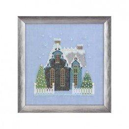 Схема Little Snowy Blue Cottage Nora Corbett NC163