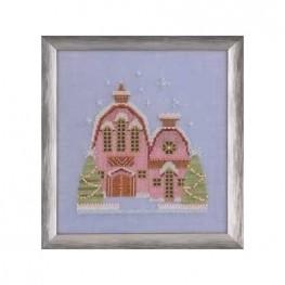 Схема Little Snowy Pink Cottage Nira Corbett NC162