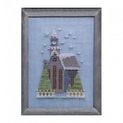 Схема Little Snowy Lavender Church Nora Corbett NC161