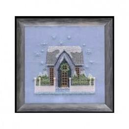 Схема Little Snowy Gray Cottage Nora Corbett NC160