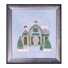 Схема Little Snowy Green Cottage Nora Corbett NC159