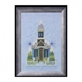 Схема Little Snowy Blue Church Nora Corbett NC158