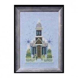 Схема Little Snowy Blue Church Nora Corbett NC158