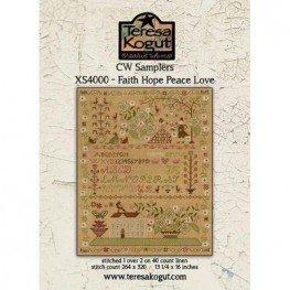 Схема Faith Hope Peace Love Teresa Kogut XS40008
