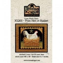 Схема Prim Hen in Basket Teresa Kogut XS200