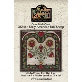 Схема Early American Folk Sheep Teresa Kogut XS2345