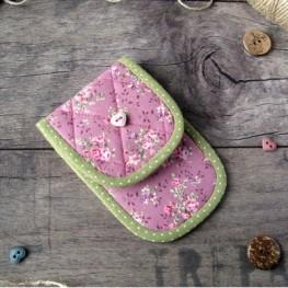 Чехольчик для ножниц (розовый в цветочек)