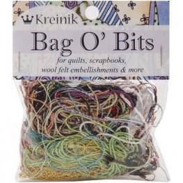 Нарезка металлизированных нитей Kreinik Bag O' Bits Metallic Thread