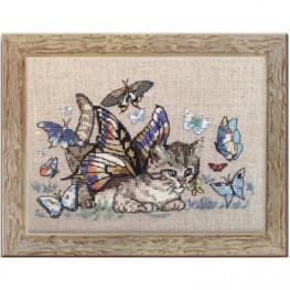 Набор Chapillon (Кот и бабочки) Nimue 151 K
