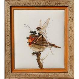 Набір Fee au Rouge-Gorge - Robin's Fairy (Фея на вільшанці) Nimue 67 K