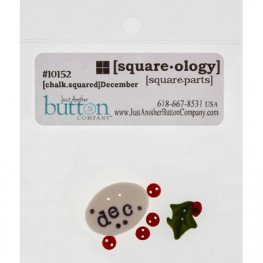Ґудзики Chalk Squared - December Just Another Button Company
