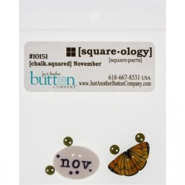 Ґудзики Chalk Squared - November Just Another Button Company