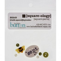 Пуговицы Chalk Squared - September Just Another Button Company
