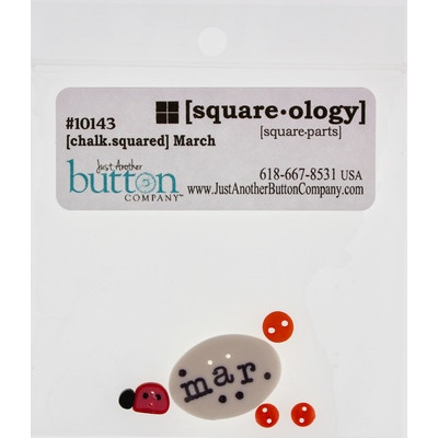 Ґудзики Chalk Squared - March Just Another Button Company