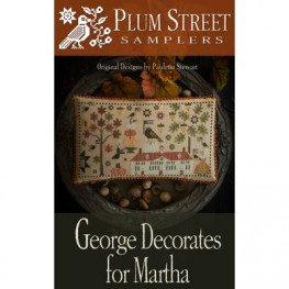 Схема George Decorates For Martha Plum Street Samplers