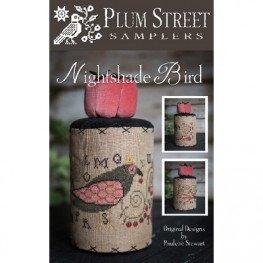 Схема Nightshade Bird Plum Street Samplers