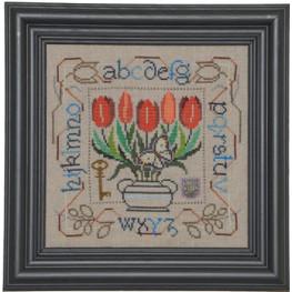 Схема Potted Posies Sampler - Tulips Tellin Emblem
