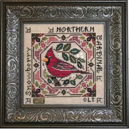Схема Birdie & Berries - Northern Cardinal Tellin Emblem