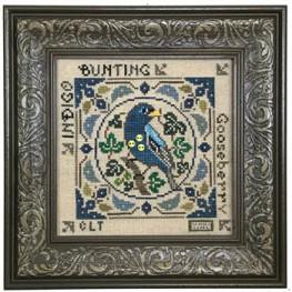 Схема Birdie & Berries - Indigo Bunting Tellin Emblem