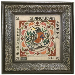 Схема Birdie & Berries - American Robin Tellin Emblem
