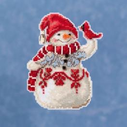 Набір Snowman With Cardinal Mill Hill JS201914
