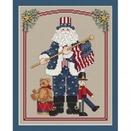 Схема Patriotic Santa Sue Hillis Designs